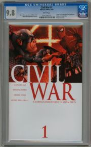 Civil War #1 First Print CGC 9.8 Mark Millar Marvel comic book